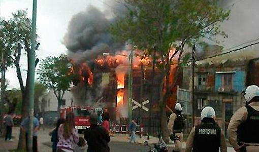 Incendio fatal en La Boca