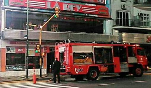 """Incendio en la pizzería """"La Rey"""""""