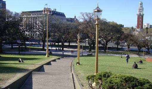 Arreglos en la Plaza San Martín