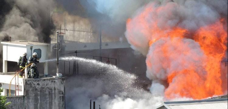 Incendio en un conventillo en La Boca