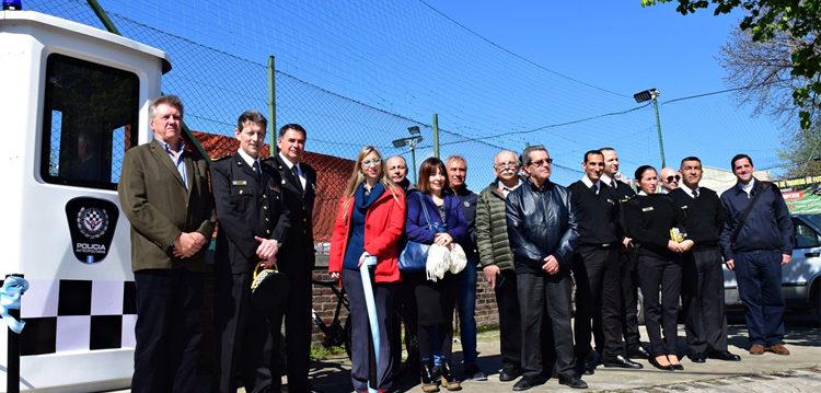 Inauguraron una garita policial para seguridad de los vecinos