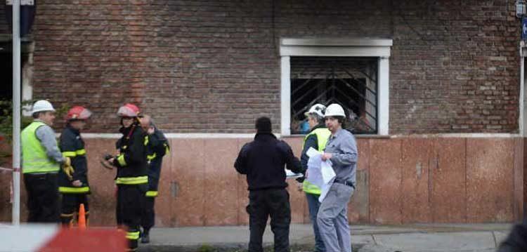 Incendio en una fábrica de carrocerías en Nueva Pompeya