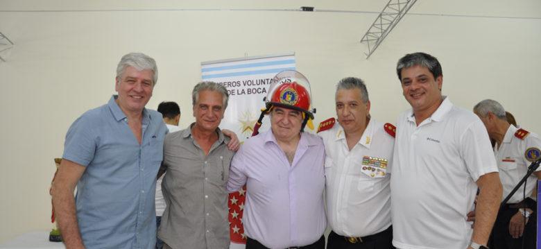 Festejos y nuevas instalaciones en Bomberos de La Boca