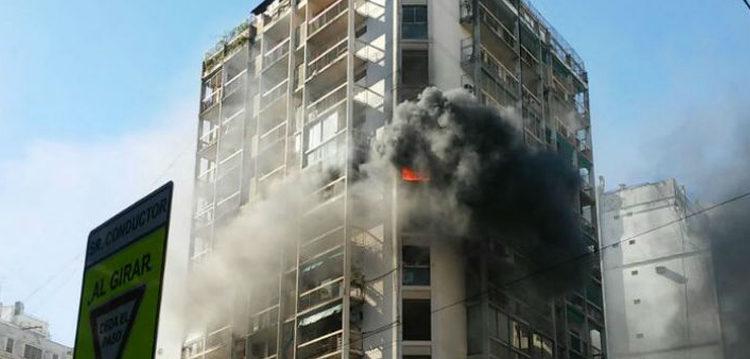 Incendio en un edificio de Balvanera