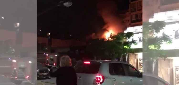 Incendio en una perfumería del barrio de Belgrano