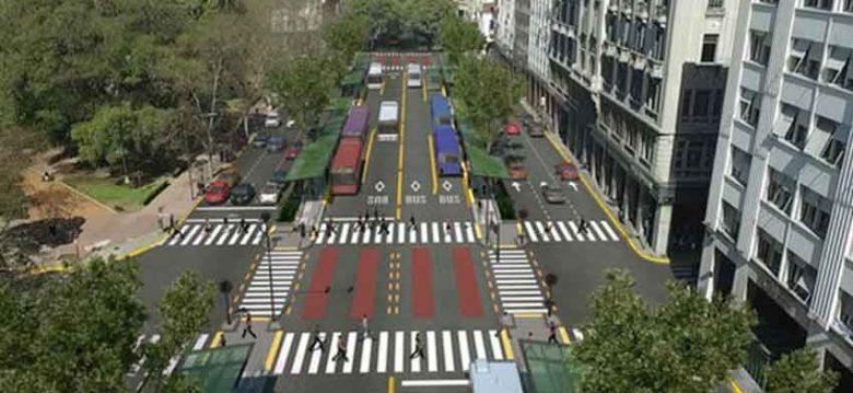 Larreta y Macri encabezaron el acto de inauguración del Metrobús del Bajo