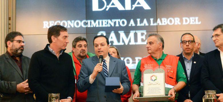 Reconocimiento a la labor del SAME durante el atentado a la sede de la AMIA
