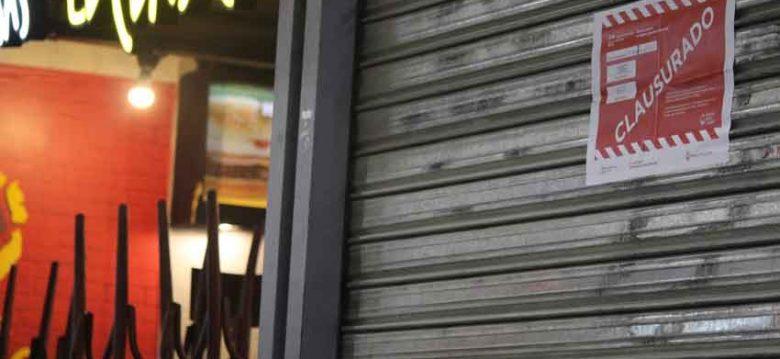 Clausura de locales de gastronomía y venta de alimentos en Once