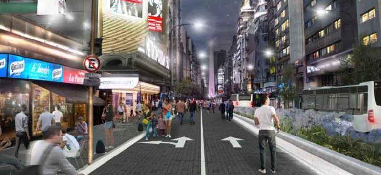 Proyecto para hacer peatonal parte de la tradicional avenida Corrientes