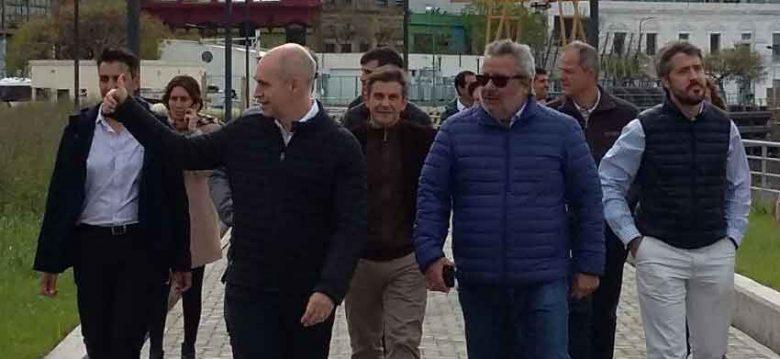 Autoridades de la ciudad recorrieron el Paseo Quinquela Martín