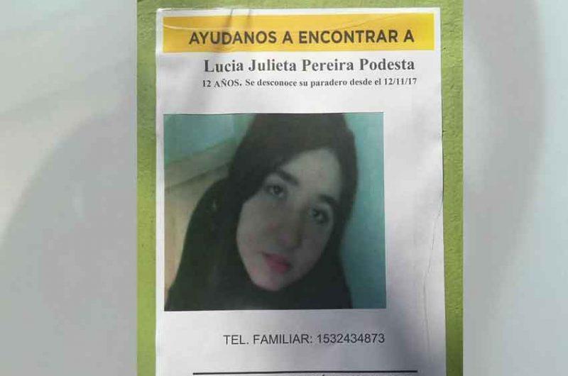 Buscan a la niña Lucía Julieta Pereyra Podestá