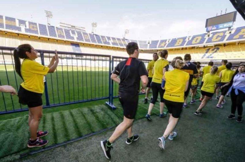 Se corrieron los 12 kilómetros a pura pasión Xeneize