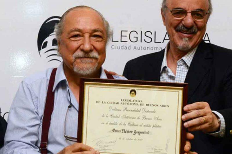 Omar Gasparini fue declarado Personalidad Destacada de la Cultura