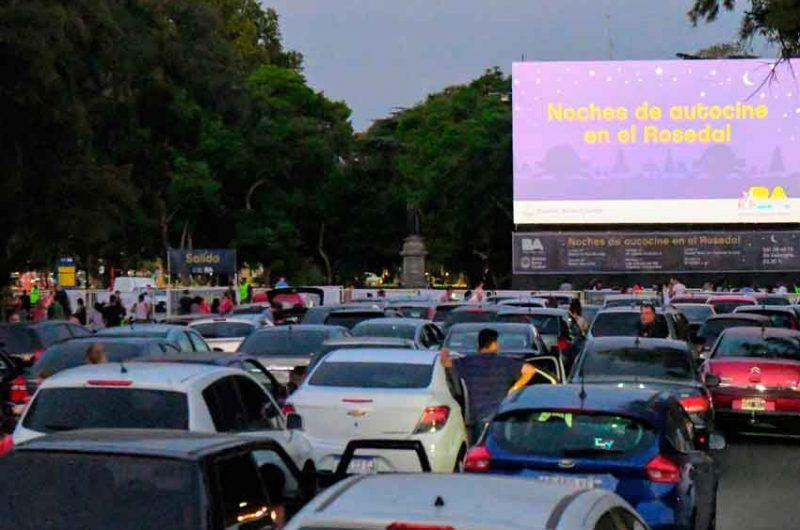Larreta inauguró la nueva edición del Autocine en el Rosedal