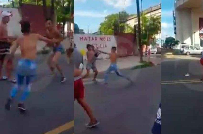 Batalla campal entre adolescentes en La Boca