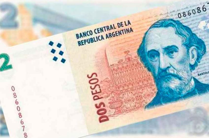 Los billetes de $ 2 pesos dejarán de ser válidos