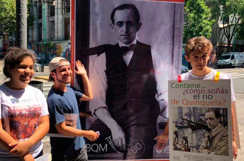 Benito Quinquela Martín por las calles de La Boca