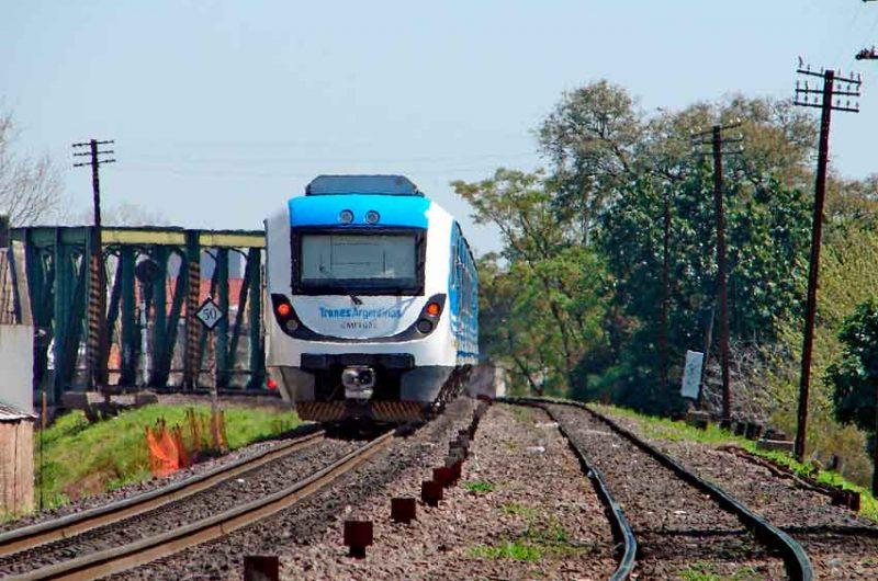 Renovación de vías en el Belgrano Sur