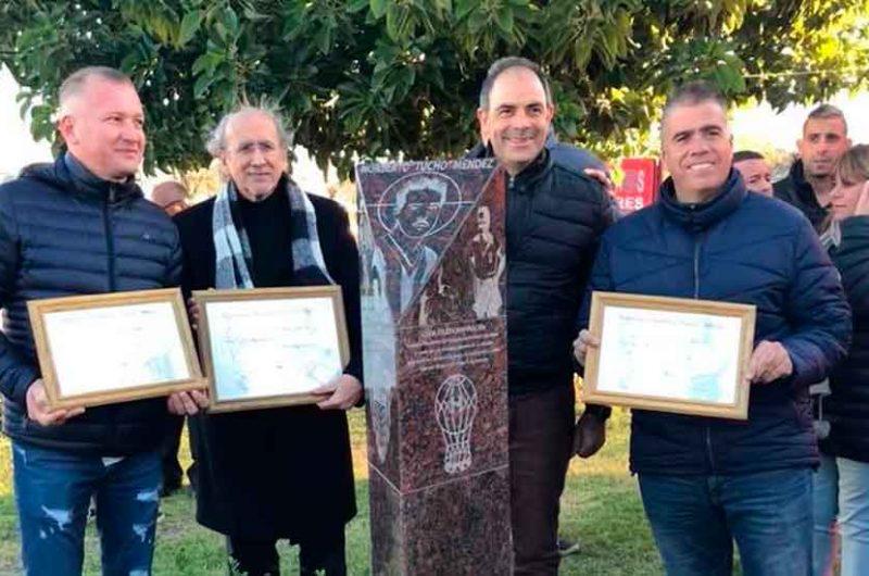 """Monumento y homenaje a Norberto """"Tucho"""" Méndez"""