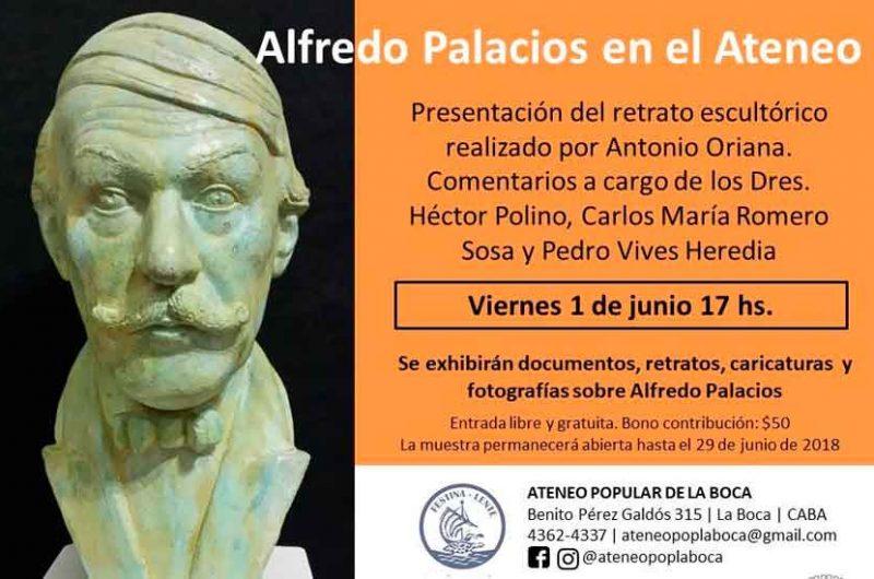 Obra escultórica de Alfredo Palacios en el Ateneo Popular de La Boca