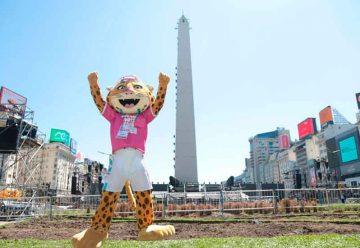 Ceremonia inaugural de los Juegos de la Juventud en el Obelisco
