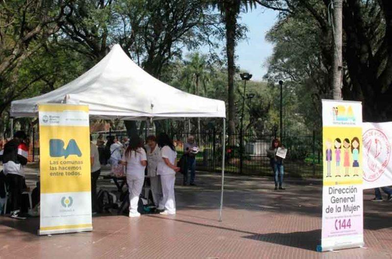 Jornada saludable en Plaza Dorrego