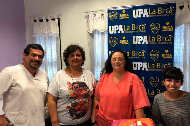 Vacunación en el UPA La Boca