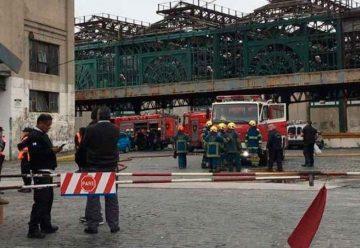 Se incendió un vagón en desuso en Constitución