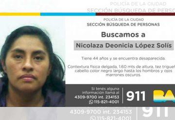 Búsqueda de persona –Nicolaza Deonicia López