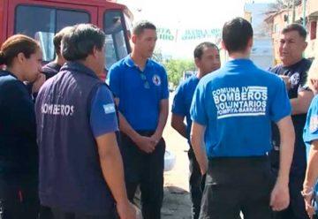 Los bomberos de la villa 21-24 de Barracas
