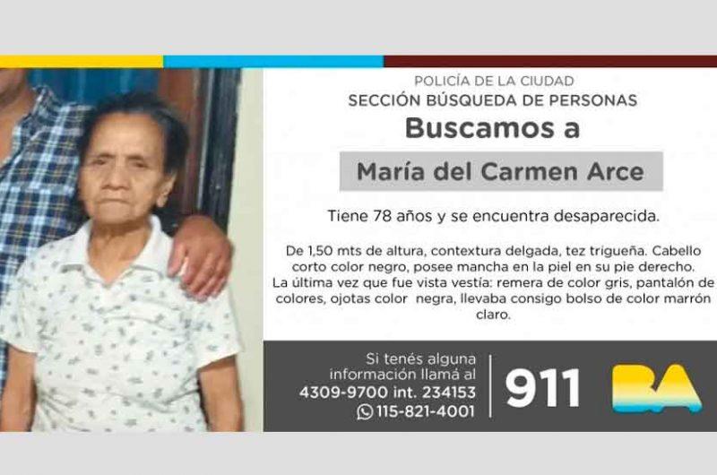 Búsqueda de persona  – María del Carmen Arce
