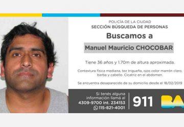 Búsqueda de persona - Manuel Mauricio Chocobar