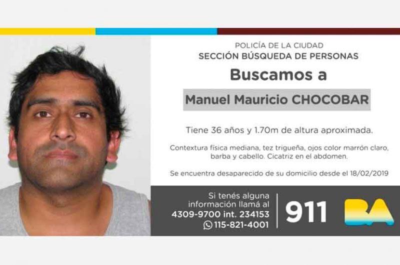 Búsqueda de persona – Manuel Mauricio Chocobar