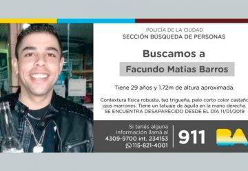 Búsqueda de persona – Facundo Matías Barros