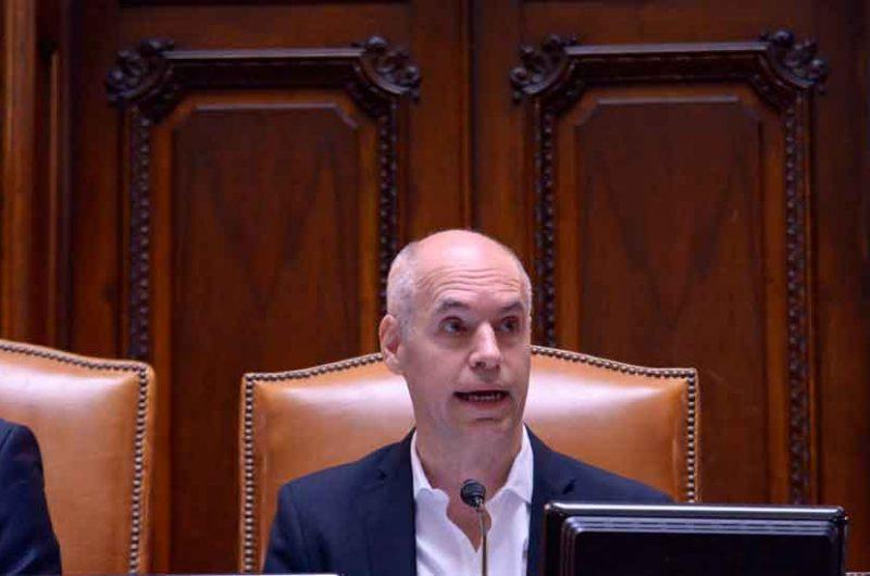 Horacio Rodríguez Larreta en la Legislatura porteña