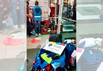 La Policía de la Ciudad incautó más de 2 mil prendas apócrifas
