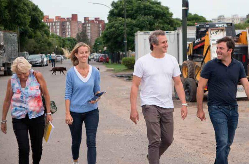Felipe Miguel recorrió el Parque Indoamericano