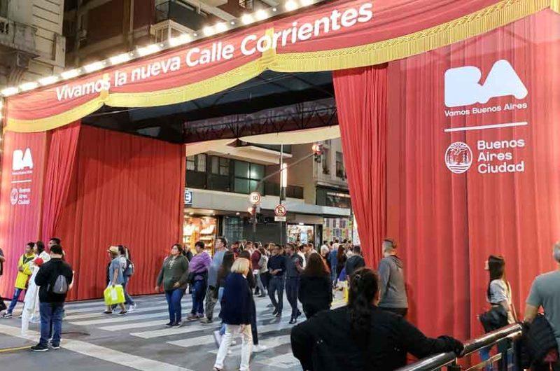 Inauguración de la refacciones y de la Nueva Calle Corrientes