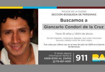 Búsqueda de persona - Giancarlo Condori de la Cruz