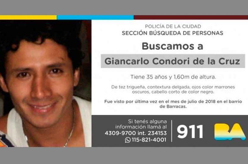Búsqueda de persona – Giancarlo Condori de la Cruz