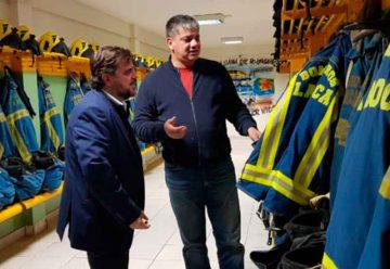 Director de Bomberos del ministerio de seguridad visito a los Bomberos de La Boca