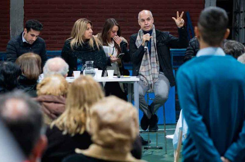 Reunión de vecinos con Horacio Rodríguez Larreta en Pompeya