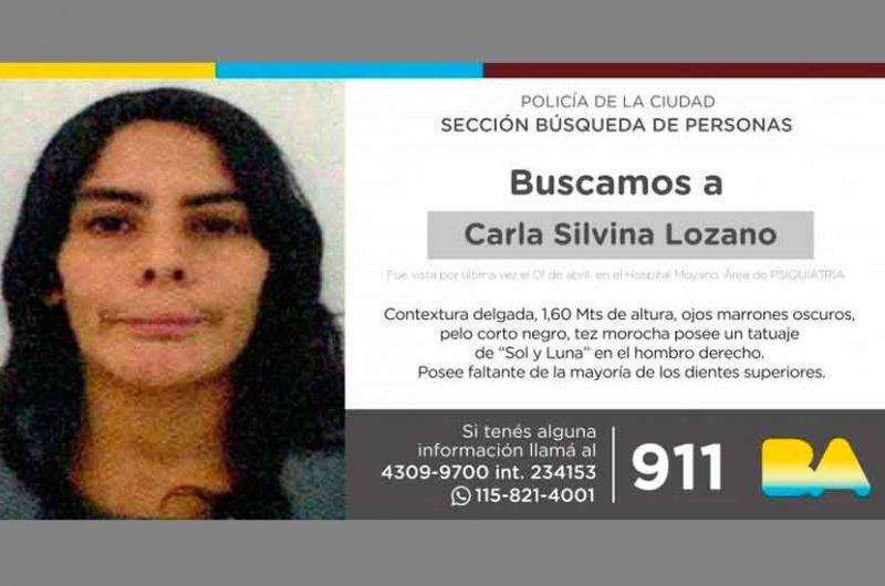 Búsqueda de persona – Carla Silvina Lozano