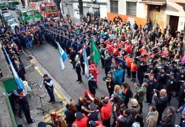 Festejos por el Día del Bomberos Voluntarios en La Boca