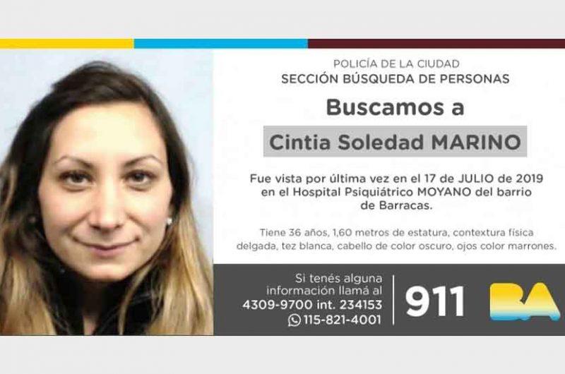 Búsqueda de persona – Cintia Soledad Marino