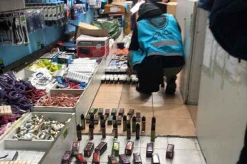 Secuestran 1.100 cigarrillos electrónicos y 436 esencias prohibidas