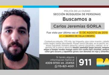 Búsqueda de persona - Carlos Jeremías Gorla
