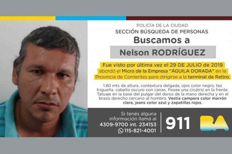 Búsqueda de persona – Nelson Rodríguez