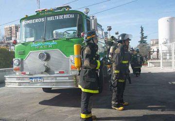Simulacro de evacuación e incendio en el hospital Garrahan