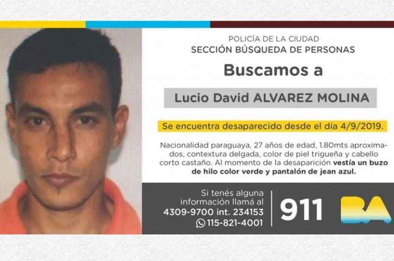 Búsqueda de persona – Lucio David Álvarez Molina